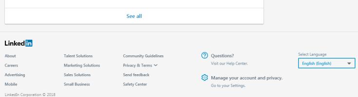 Changer de langue sur LinkedIn